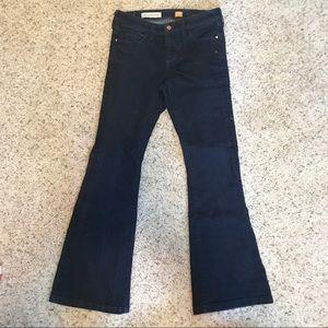 Pilcro stet Flare dark blue jeans Anthropologie